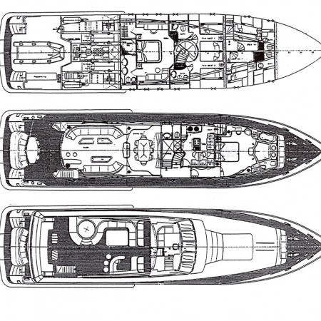 lady P super yacht layout