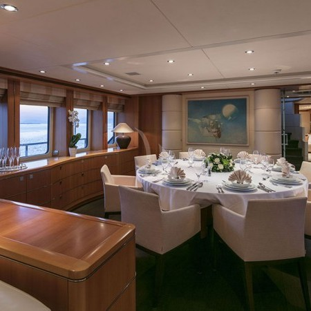 l'equinox yacht dining indoor