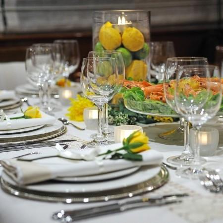 Blu Sky Yacht dining detail