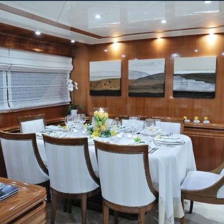 Blu Sky Yacht salon dining