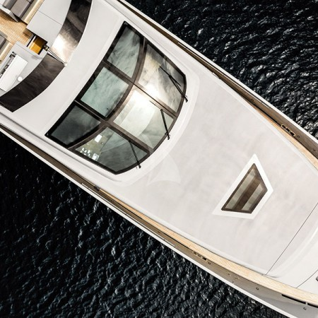 aerial shot of the boat