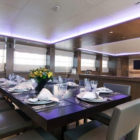 yacht's interior