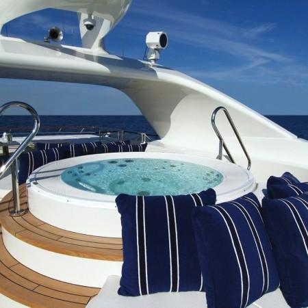 mega yacht deck jacuzzi