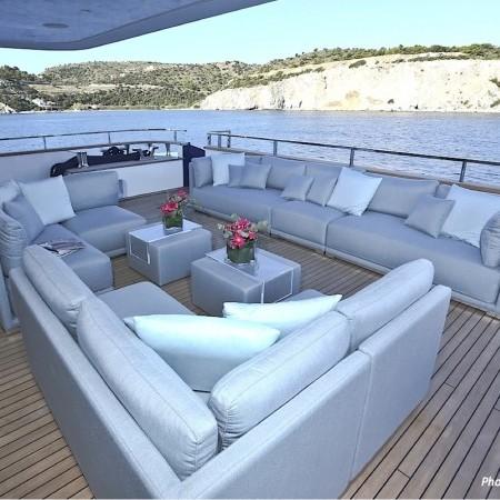 ouranos mega yacht deck