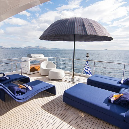 Memories Too yacht sun beds and outdoor living