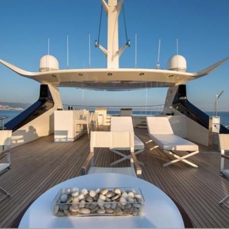 mega yacht deck