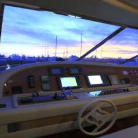 bridge of the yacht