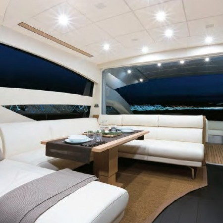 pershing 64 yacht charter night time