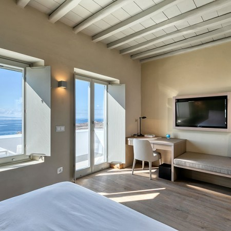 bed room with Seaview