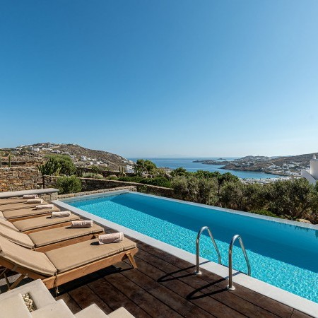 mykonos villa rental Ornos beach