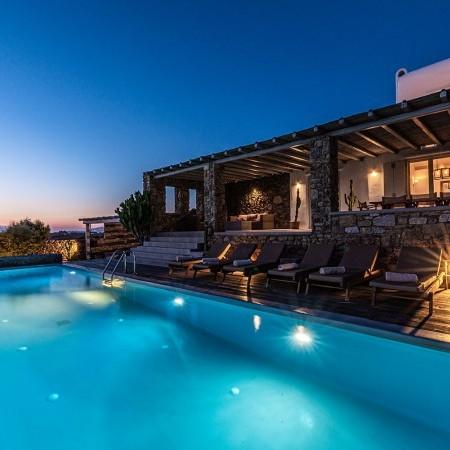 mykonos villa Ornos beach