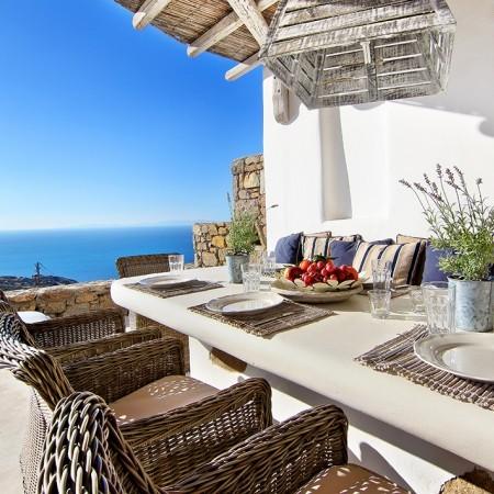 Villa Aaliyah Mykonos exterior dining
