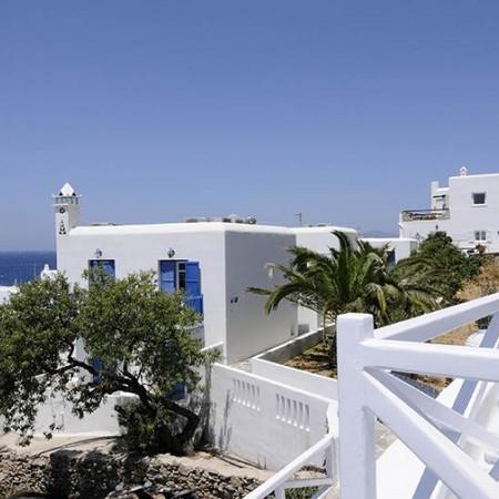 Mykonos Villa Ariel view