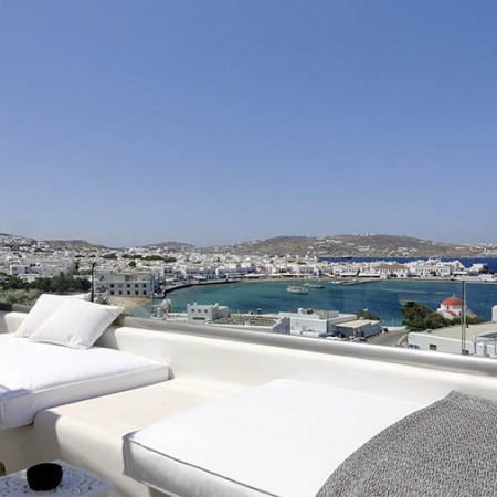 outdoor relaxation sea view Mykonos Town