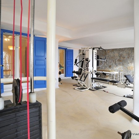 private gym at villa