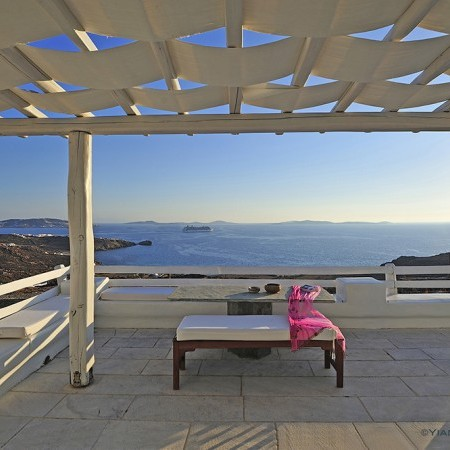 terrace at villa Artemis Mykonos