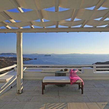 terrace at villa Artemis Mykonos