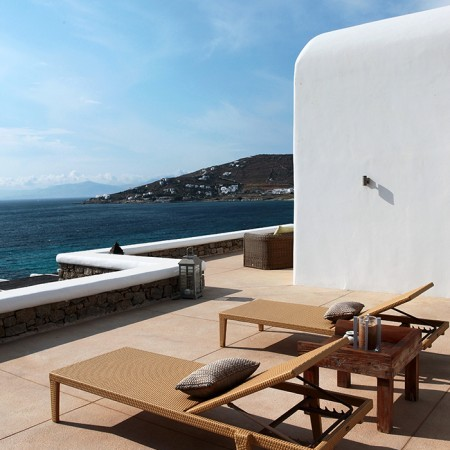 private veranda sun beds