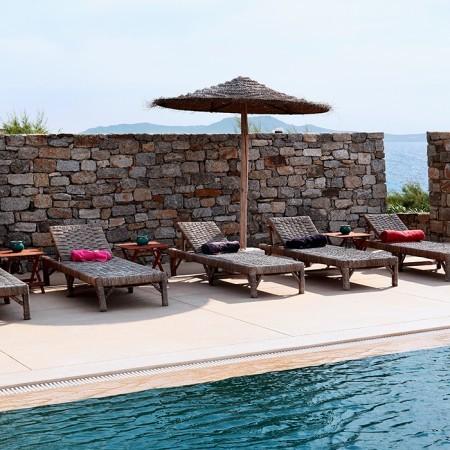 Mykonos villa sun beds