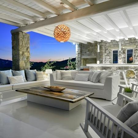 Villa Bahia Mykonos lounge area