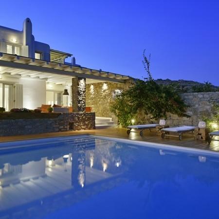 Villa Bahia Mykonos at night