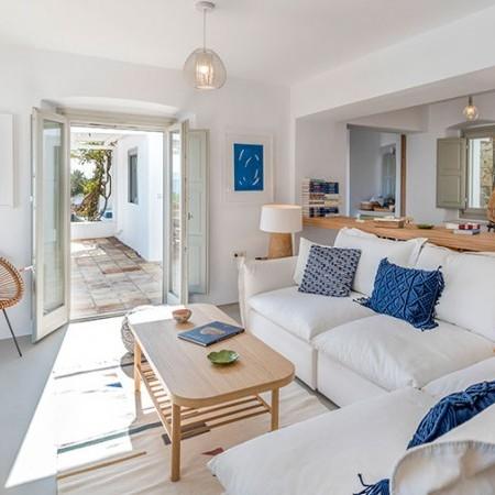 indoor living room of villa Bonheur