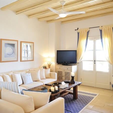 Mykonos Villa Cantik living room