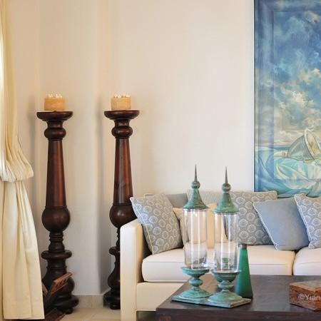 Mykonos villa Cantik living area
