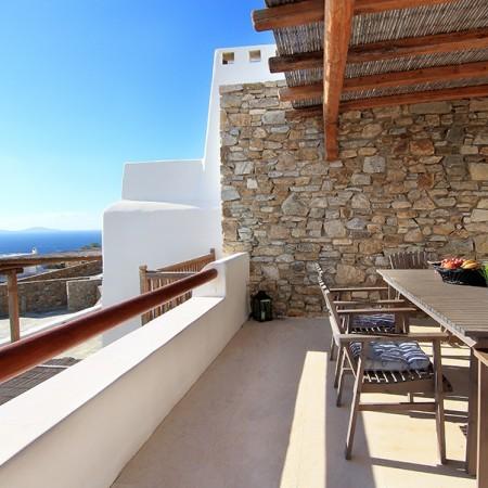 Mykonos villa Chrissi - veranda