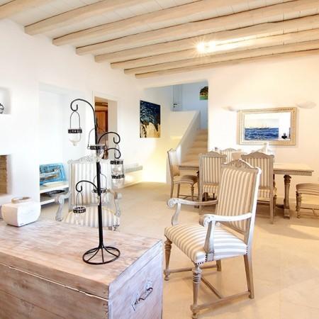 Villa Chrissi Mykonos living room