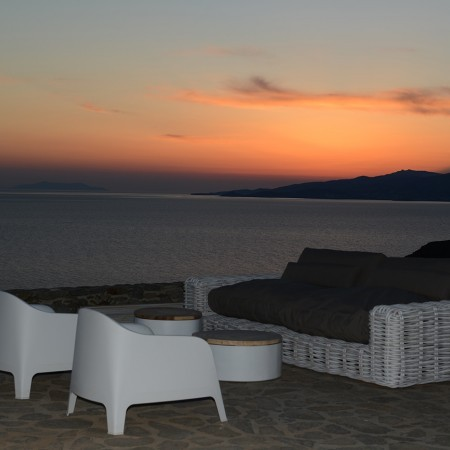 mykonos villa coral sunset