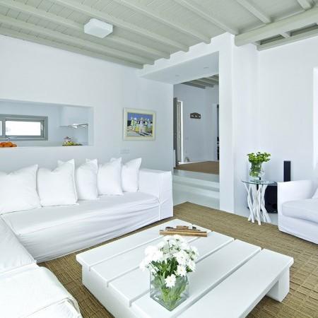 villa daphne living room