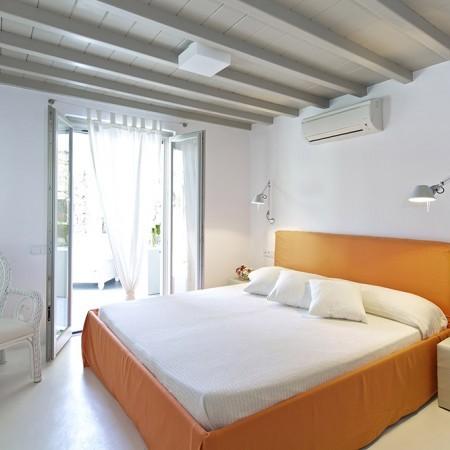 double bedroom orange