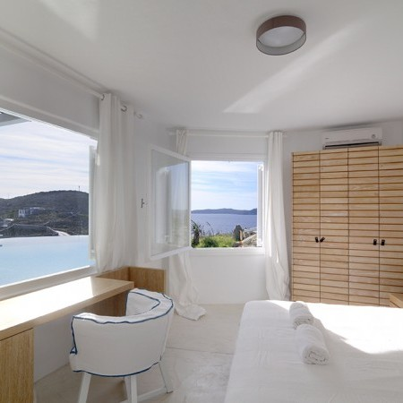 master bedroom with sea view