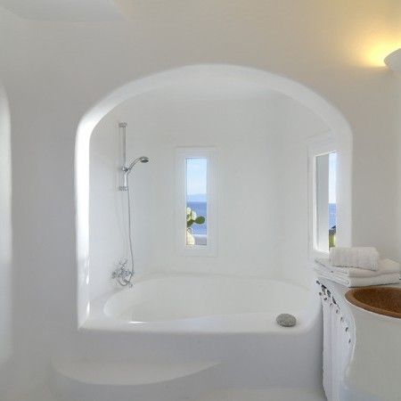 ensuite built bathroom Delos View Villa Mykonos