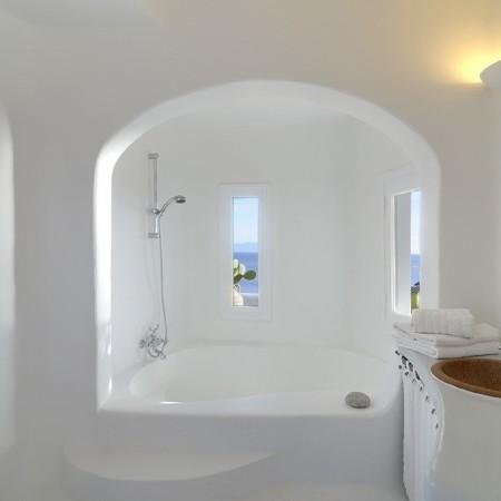 ensuite built bathroom Delos View Villa Mykonos