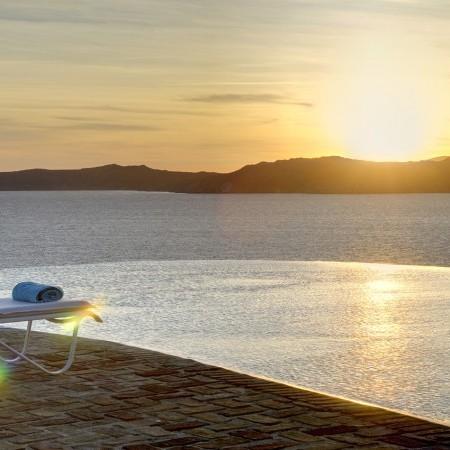 villa delos view sunset