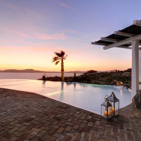 breathtaking sunset Mykonos