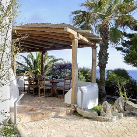 shaded area villa delos view