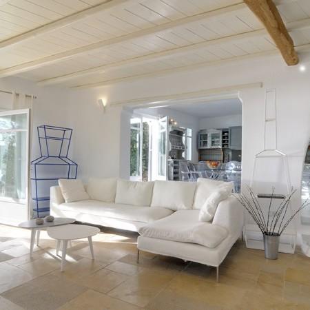 villa delos view living room