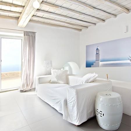 mykonos villa interior