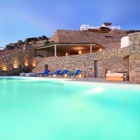 Villa Eleanna night pool