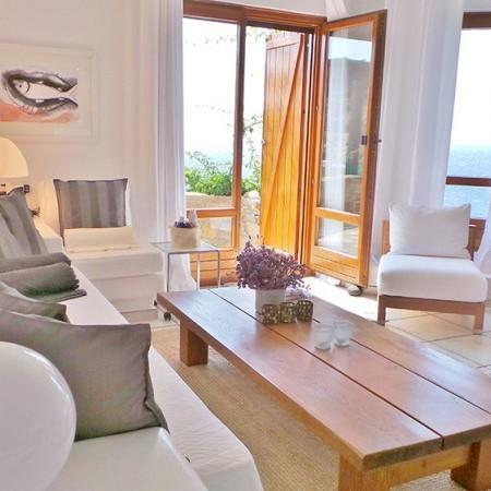 main living room at villa Extasea Mykonos