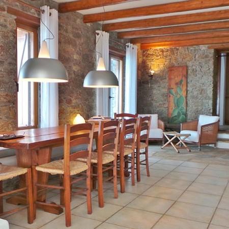 Dining area villa Extasea Mykonos