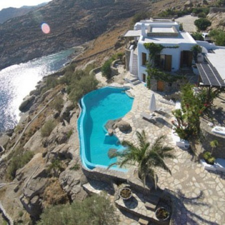 Mykonos Villa Extasea aerial view