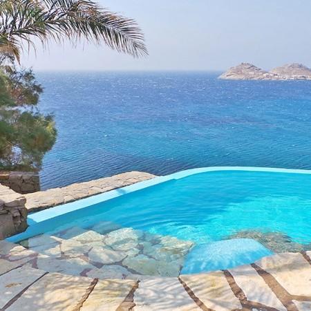 Mykonos Villa private beach