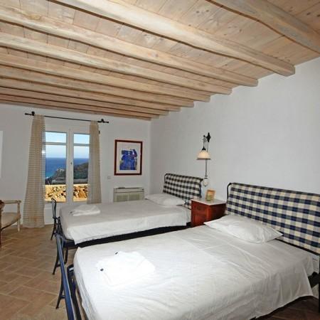mykonos villa garnet bedroom