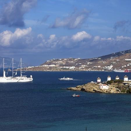 mykonos town view