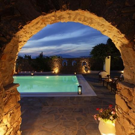 villa harmony at night