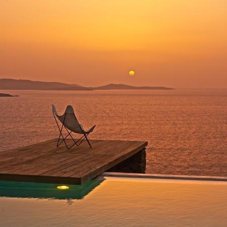 Mykonos sunset view